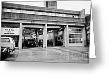 Vancouver Fire Rescue Services Hall 2 In Downtown Eastside Bc Canada Greeting Card by Joe Fox