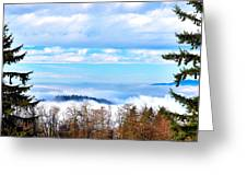 Vancouver Fog From Burnaby Mtn Greeting Card