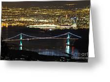 Vancouver Nightlights Greeting Card