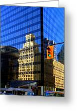 Vancouver Reflections 3 Greeting Card by Randall Weidner