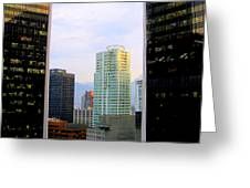 Vancouver Reflections Two Greeting Card