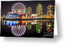 Vancouver Science World In False Creek - By Sabine Edrissi Greeting Card