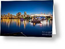 Vancouver Skyline - By Sabine Edrissi Greeting Card