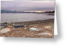 Vancouver Skyline From Jericho Beach Greeting Card