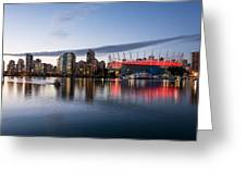 Vancouver Skyline With Bc Place Greeting Card
