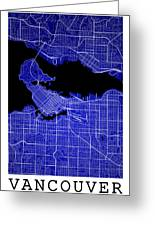 Vancouver Street Map - Vancouver Canada Road Map Art On Colored  Greeting Card