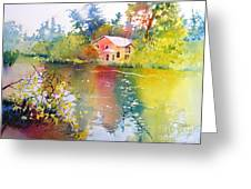 Variations Of Lake Scene Greeting Card