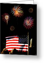 Variations On Old Glory No. 2 Greeting Card by John Pagliuca