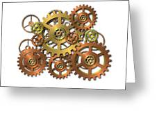 Various Gears Greeting Card