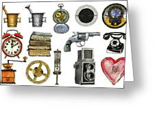 Various Object - Signs - Icons Greeting Card