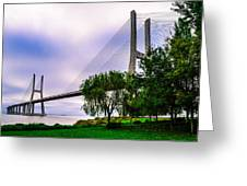 Vasco Da Gama Bridge I Greeting Card