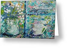 Vase And Demitasse Greeting Card