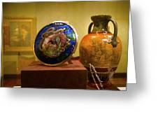 Vase At Delaware Art  Greeting Card