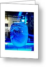 Vase Impression Bluish Greeting Card