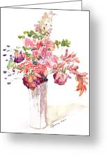 Vase Of Dried Flowers Greeting Card
