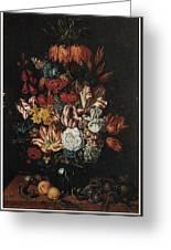 Vase Of Flowers Greeting Card by Abraham Bosschaert