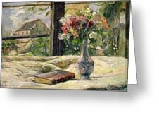 Vase Of Flowers Greeting Card
