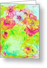 Vase Of Spring Flowers Greeting Card