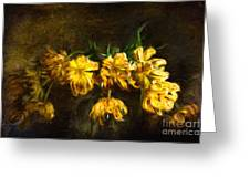 Vase Of Yellow Tulips Greeting Card