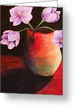 Vase Greeting Card by Whitney Nanamkin