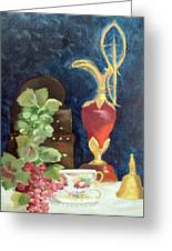 Vase With Grapes Greeting Card