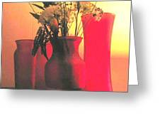 Vases And Flowers 1 Greeting Card