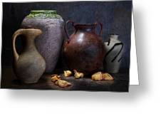 Vases And Urns Still Life Greeting Card by Tom Mc Nemar