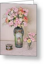 Vases Pink Cast And Trinket Box Greeting Card