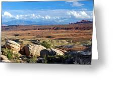 Vast Desert Landscape Greeting Card