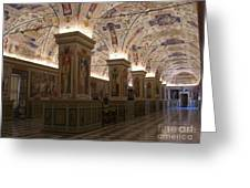 Vatican Museum Vaulted Ceiling Artwork Greeting Card