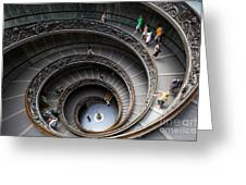 Vatican Spiral Staircase Greeting Card