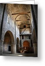 Vaulted Roof St Philibert - Tournus Greeting Card