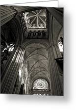 Vaults Of Rouen Cathedral Greeting Card