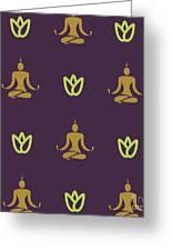 Vector Design Yoga Pose Pattern Greeting Card