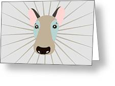 Vector Funny Head Of Dog On Vintage Greeting Card