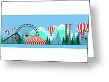 Vector Illustration Poster Amusement Greeting Card