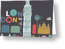 Vector London Symbols Greeting Card