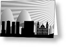 vector Rio de Janeiro skyline Greeting Card