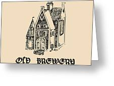 Vector Vintage Old Brewery Logo. Hand Greeting Card