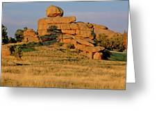 Vedauwoo Rocks Sunset Wyoming Greeting Card