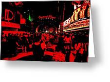 Vegas At Night Greeting Card