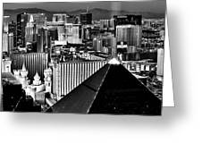 Vegas Black And White Greeting Card