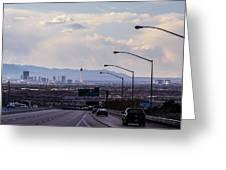 Vegas Cityscape Greeting Card