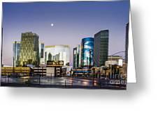 Vegas Night Skyline Greeting Card