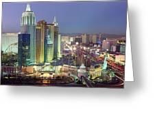 Vegas Skyline Greeting Card