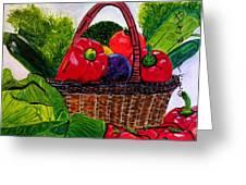 Veges Basket Greeting Card