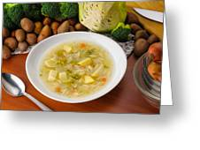 Vegetable Soup Greeting Card
