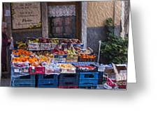 Vegetable Stand Italy Greeting Card