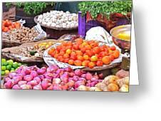 Vegetable Vendor - Omkareshwar India Greeting Card
