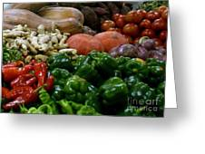 Vegetables In Chinese Market Greeting Card